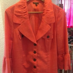 Tesori lightweight melon color blazer-L